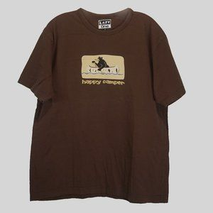 Lazy One graphic SS brown tee shirt like new L
